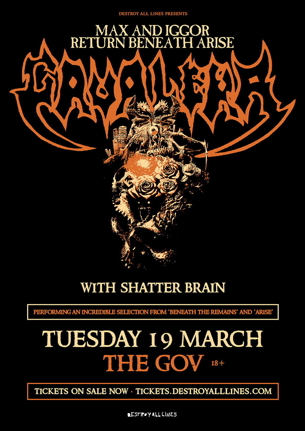 SHATTER BRAIN TO SUPPORT MAX & IGGOR CAVALERA