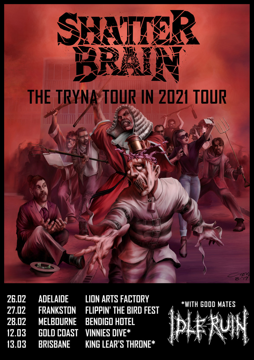 SHATTER BRAIN ARE TRYNA TOUR IN 2021!