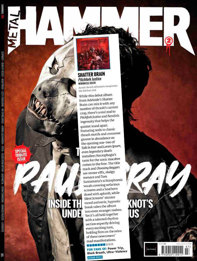 'PITCHFORK JUSTICE' REVIEWED IN METAL HAMMER!