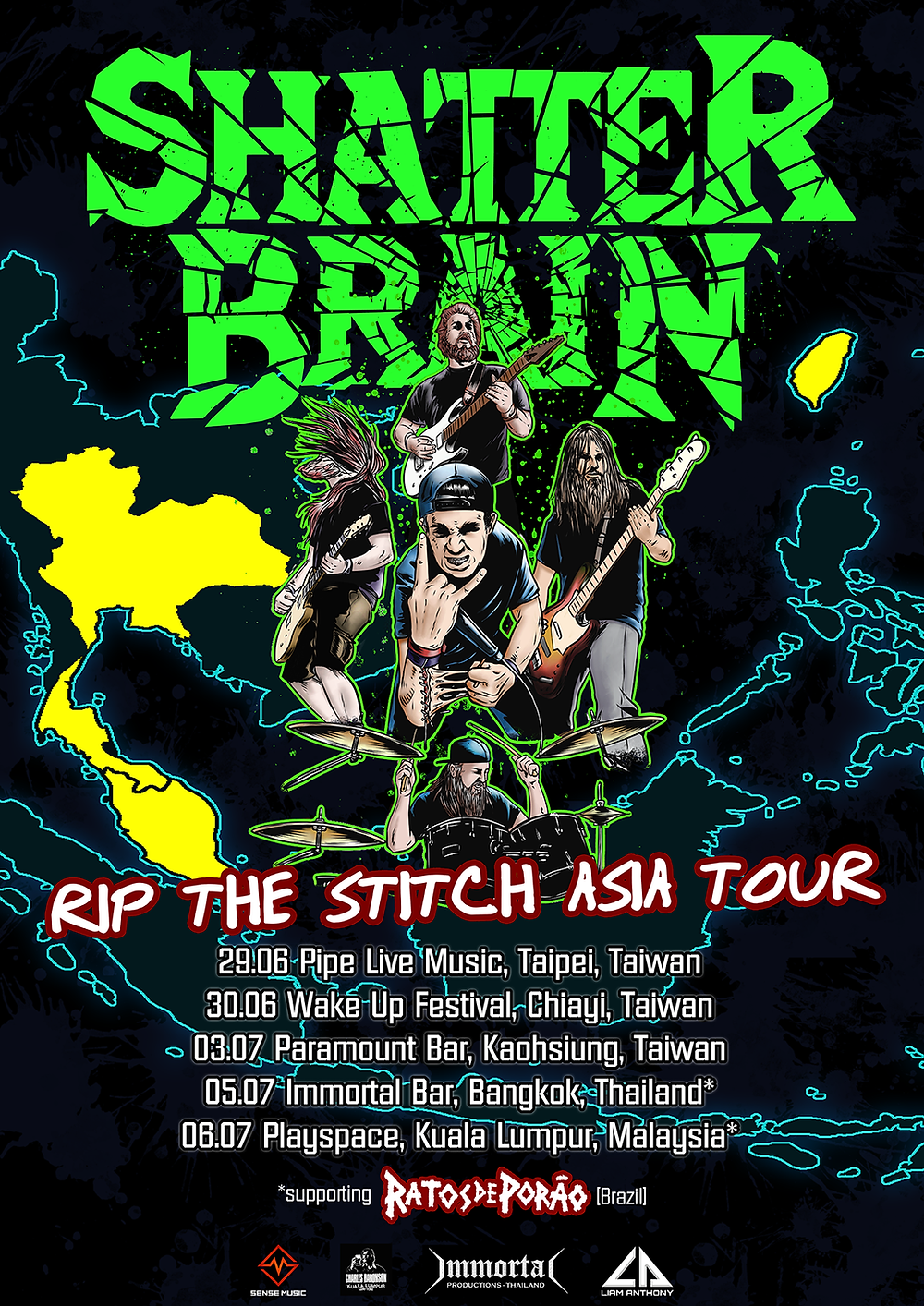 SHatter Brain Asia Tour 2018 Poster