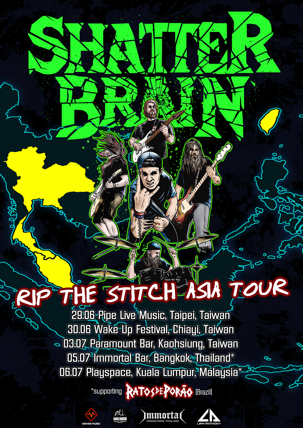 SHATTER BRAIN ANNOUNCE ASIA TOUR