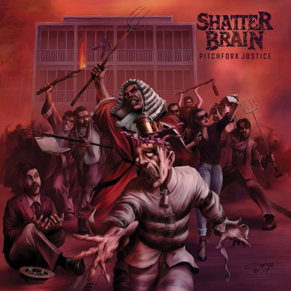 "SHATTER BRAIN SIGN WITH WORMHOLEDEATH AND ANNOUNCE DEBUT ALBUM ""PITCHFORK JUSTICE"""