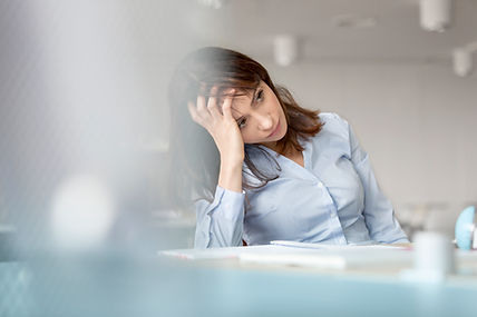 Woman feeling troubled considering considering counselling