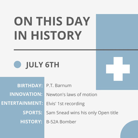 July 6: This Day in History