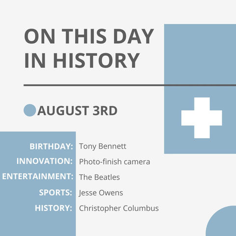 August 3: This Day in History