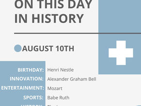 August 10: This Day in History