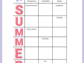 Summer Words Game for Seniors