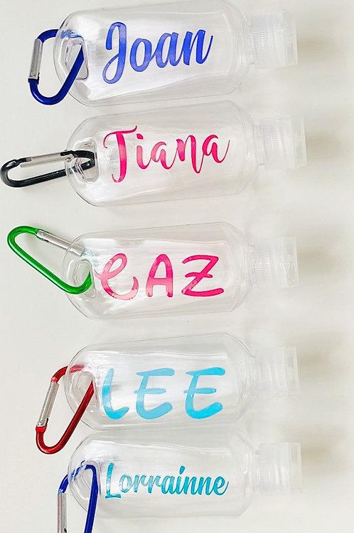 Personalised Hand Sanitiser Bottles