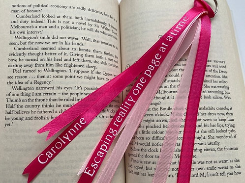Personalised Pink Ribbon Bookmark