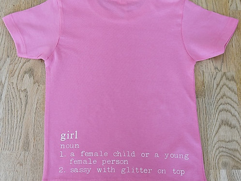 Girl's T-shirt - Definition of a Girl