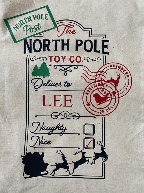 Large personalised Christmas stocking