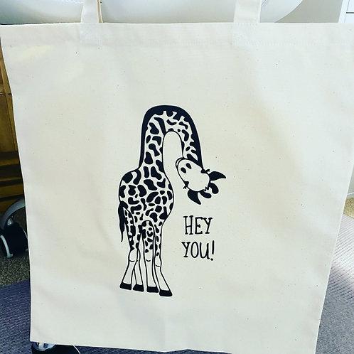 Giraffe Tote Bag - Hey You