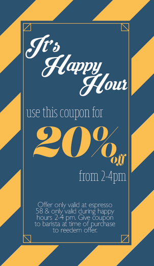 Coupon design for Blue Valley Bistro