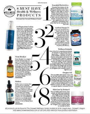 Ad design inside Emerald Valley Magazine