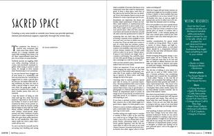 Story layout inside Emerald Valley magazine