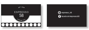Espresso 58 punch card design