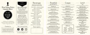 Brouchure menu