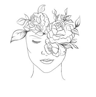 Esthetics by Allie hand-drawn logo