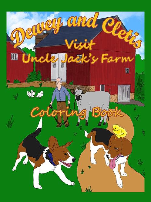 Dewey and Cletis Visit Uncle Jack's Farm Coloring Book