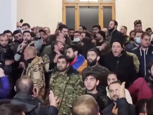 Armenia & Azerbeijan Sign Peace Agreement. Armenian Parliament Occupied