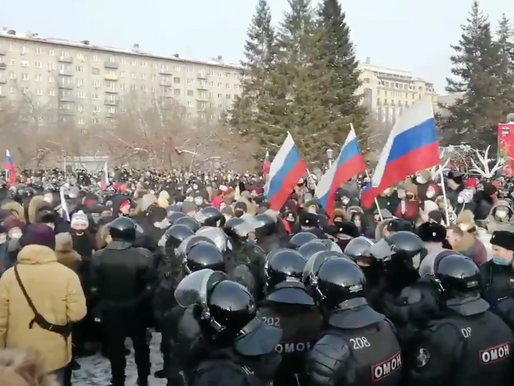 Russian Authorities Struggle to Contain Protests