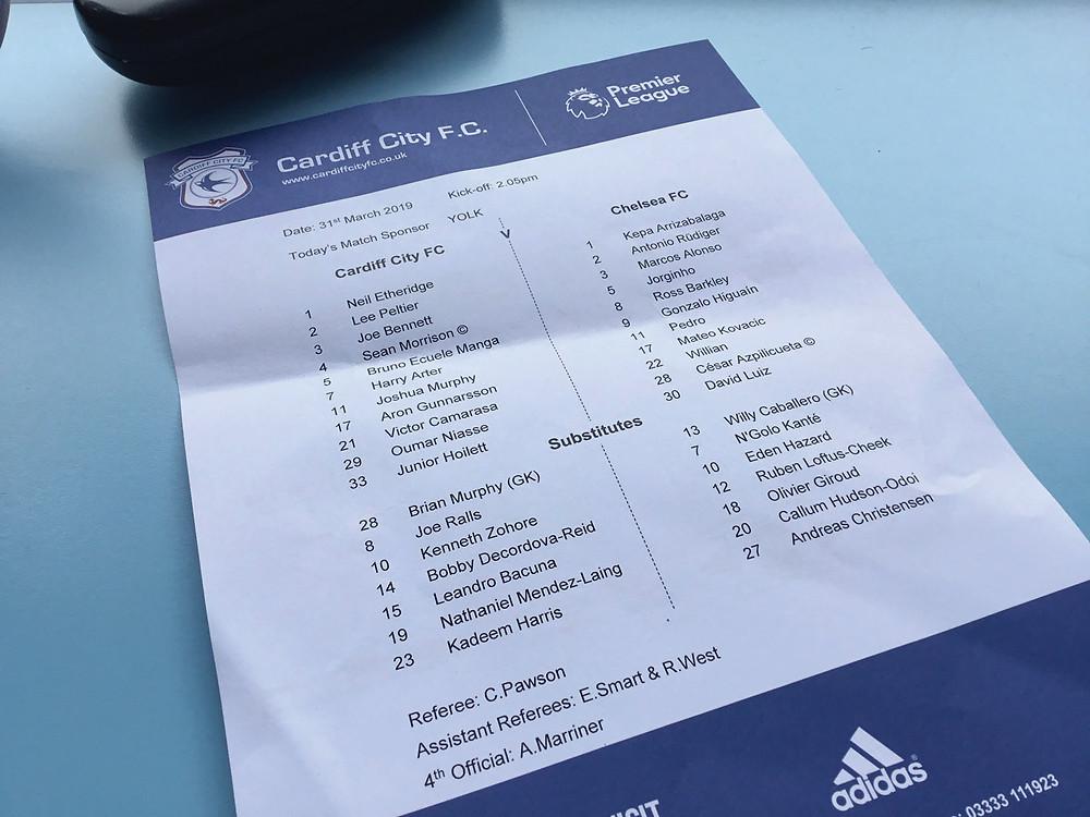 Cardiff 1 v Chelsea 2     Photo by Paul Lagan