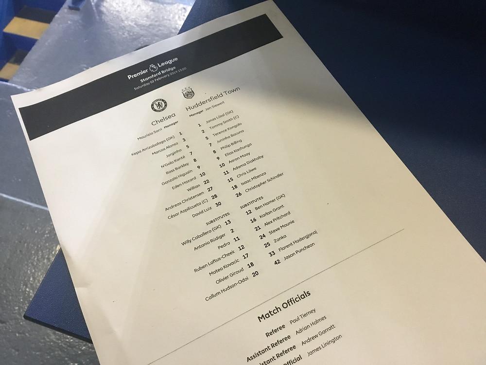 Chelsea 5 Huddersfield 0 Photo by Paul Lagan