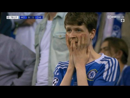 Europe is Blue, Chelsea win the cup with the big ears - again - fans are overcome with emotion