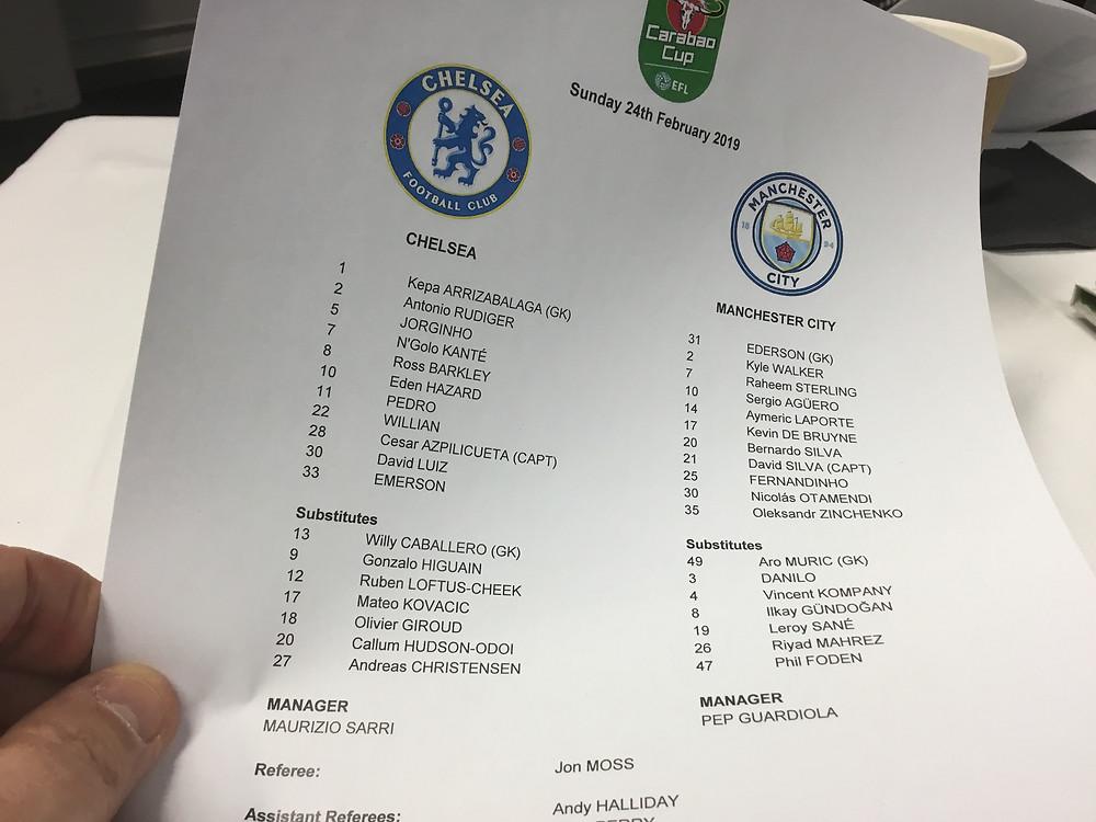 Chelsea 0 Man City 0