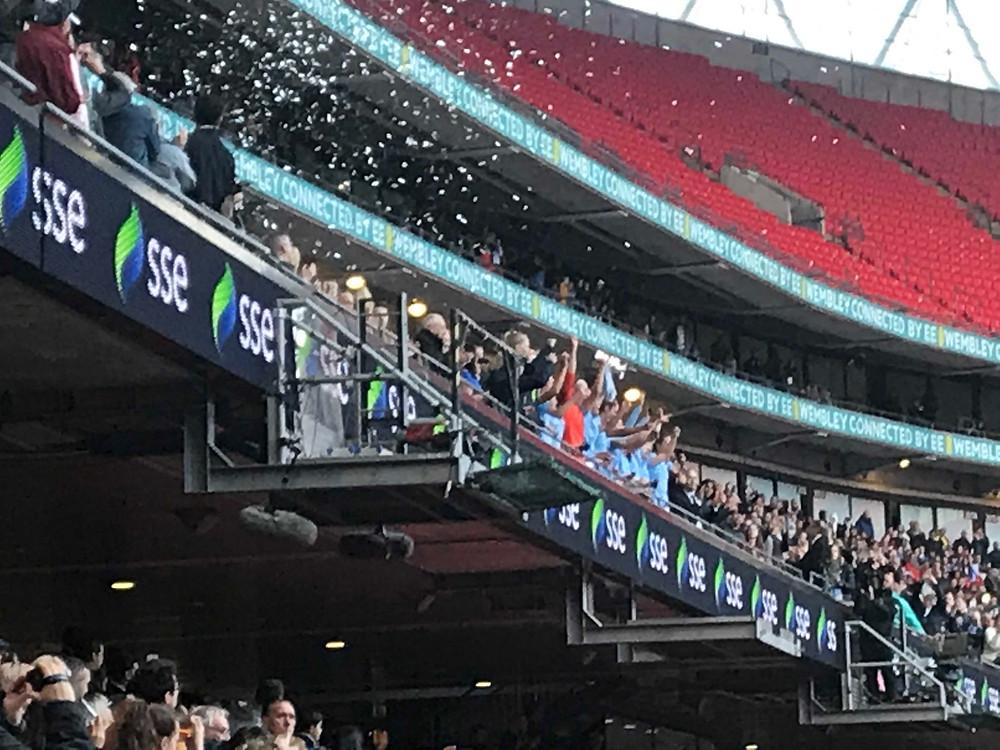 Man City 3 West Ham 0 Photo by Paul Lagan