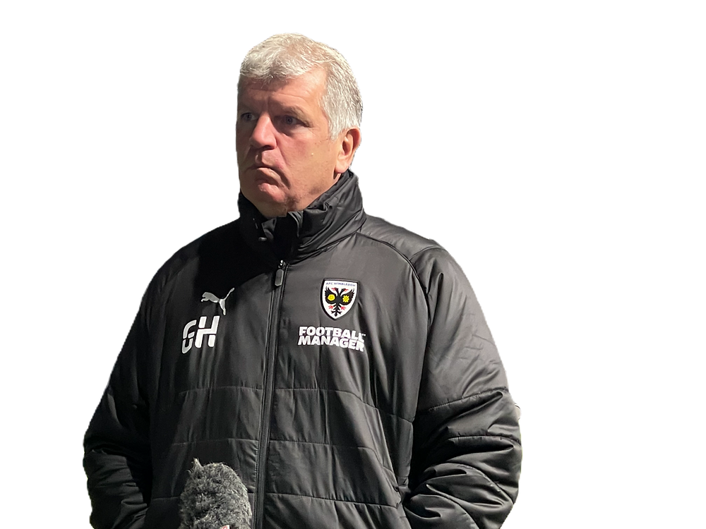 AFC Dons manager post-match against Lincoln City on January 2, 2021