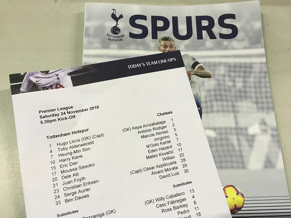 Spurs 3 v Chelsea 1 at Wembley