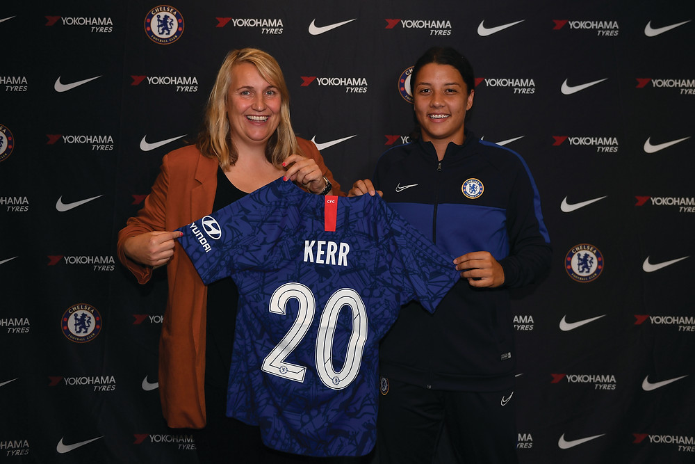Emma Hayes and Sam Kerr Photo: Chelsea FC