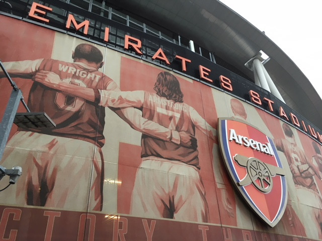 Emirates stadium before tonight's game