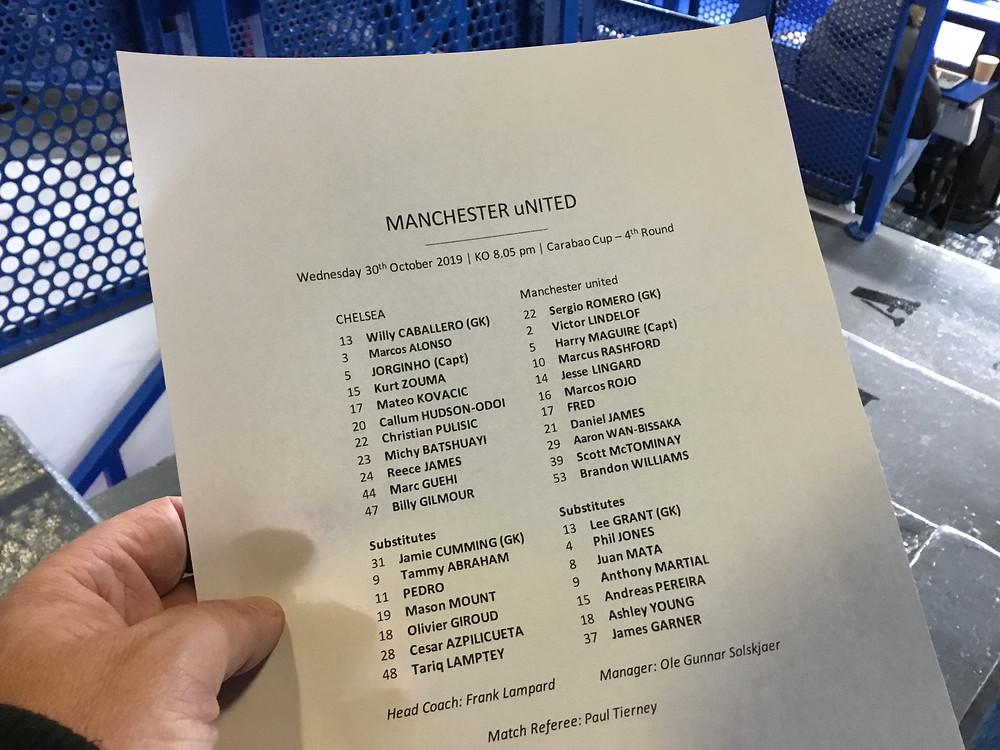 Chelsea 1 Man Utd 2 Photo: Paul Lagan