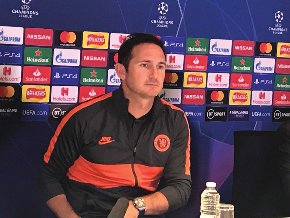 Frank Lampard after the 1-0 defeat to Valencia Photo by Paul Lagan