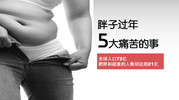 胖子过年5大痛苦的事:360瘦身系列