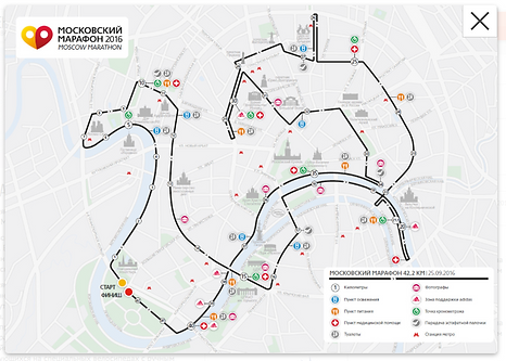 Регистрация на Московский марафон 2016 - карта забега