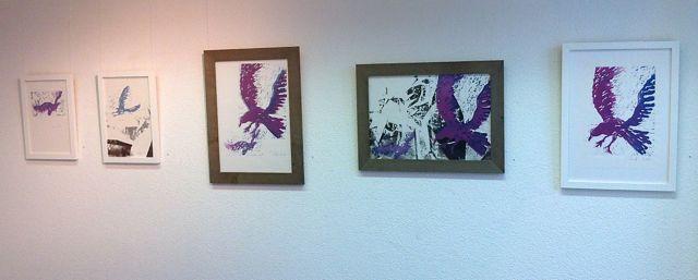 Serie Vögel in der Galerie