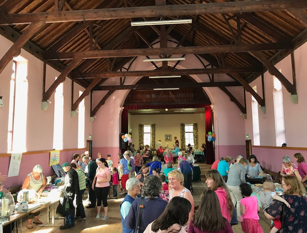 Inside the Parochial Hall