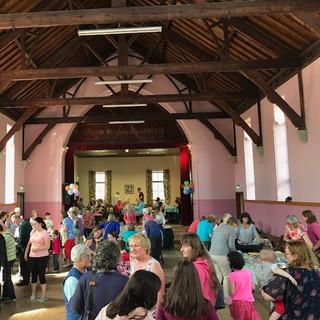 Inside the Parochial Hall