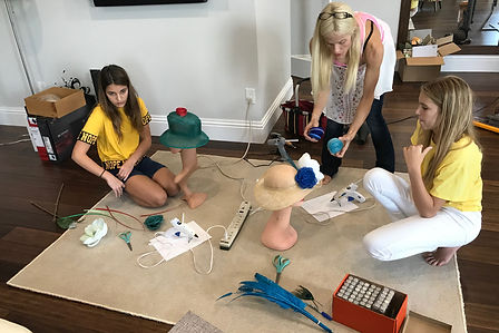 Adelyn Fears & Ayla Busey Creating Her Own Hat At Designs By Rebecca