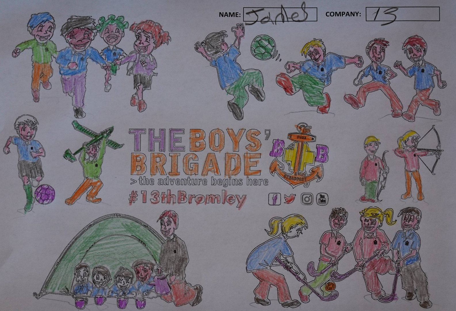 13th Bromley Boys' Brigade Colouring 12.