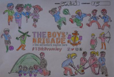 13th Bromley Boys' Brigade Colouring 12.