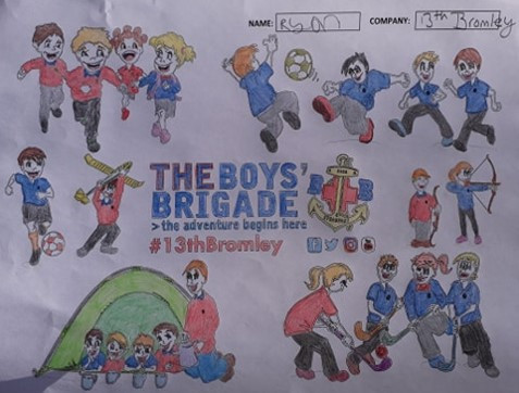 13th Bromley Boys' Brigade Colouring 17.