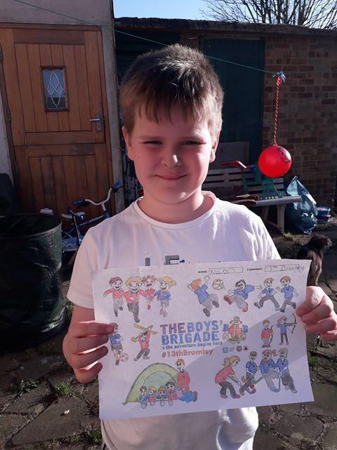 13th Bromley Boys' Brigade Colouring 16.