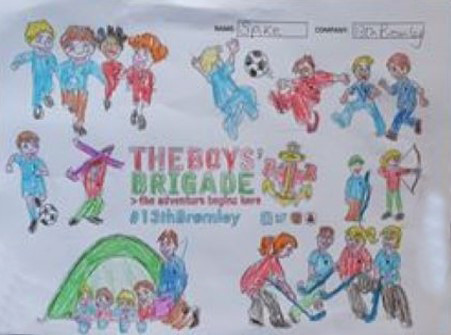 13th Bromley Boys' Brigade Colouring 10.