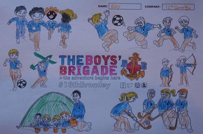 13th Bromley Boys' Brigade Colouring 11.