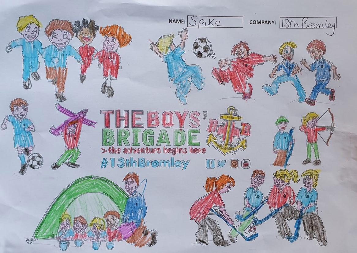 13th Bromley Boys' Brigade Colouring 10.