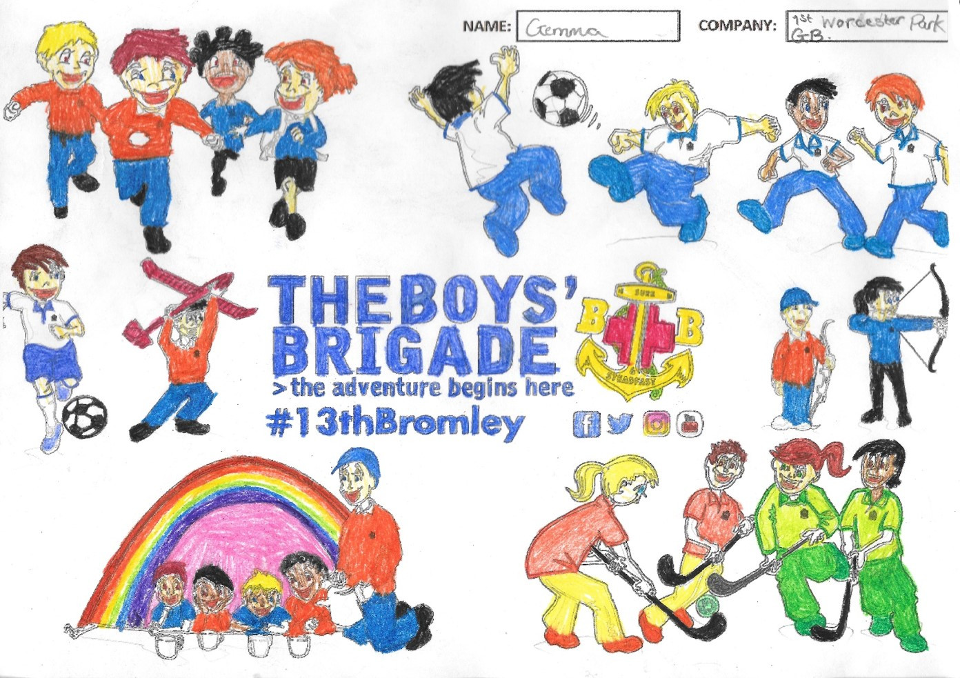 13th Bromley Boys' Brigade Colouring 13.